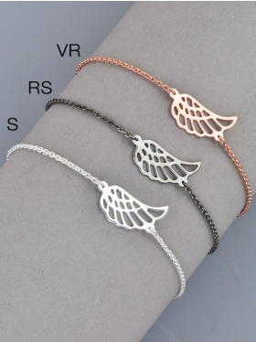 Symbolarmband mit Engelsflügel, 925 Silber
