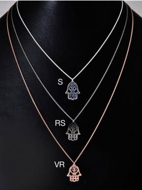 Kette mit Symbol Fatimas Hand, 925 Silber