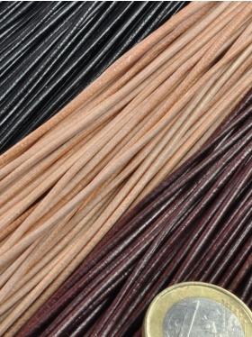 Lederbänder ø 1,5 mm, Länge 1 m - Bündel zu 50 Stück