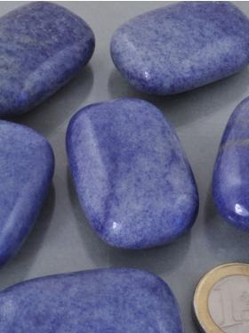 Blauquarz, Massage- / Linsensteine, Modell B