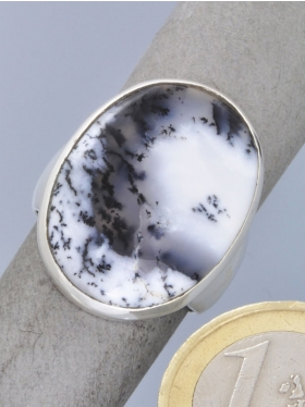 Dendritenopal, Ring, Größe 61, Unikat