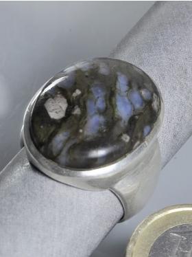 Blue Spot Stone (Rhyolith), Ring, Größe 60, Unikat