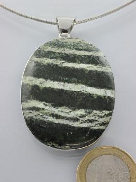 Silberauge, Anhänger mit Silberöse, rhodiniert, Unikat