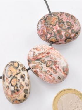 Leopardenstein, Anhänger gebohrt ø 2 mm, 3 Unikate