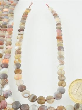 Botswana Achat, Disc facettiert, Strang 40,5 cm