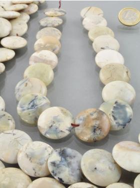 Opal (Moosopal), Scheibe, Strang 40 cm