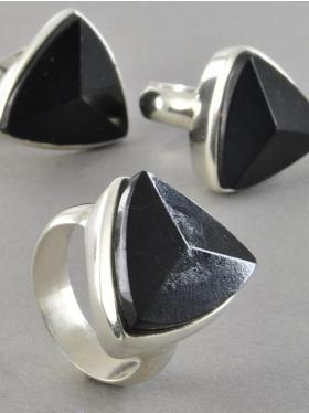 Turmalin schwarz, Ring, 925 Silber