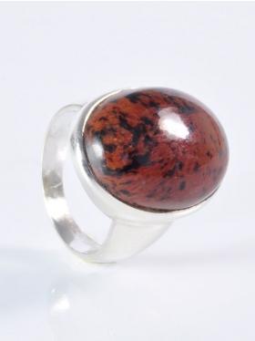 Mahagoniobsidian, Ring, Größe 54, Unikat