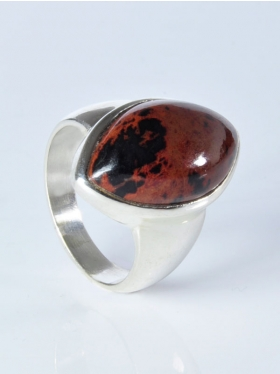 Mahagoniobsidian, Ring, Größe 59, Unikat