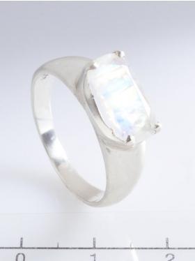 Regenbogenmondstein, Ring, Größe 59, Unikat