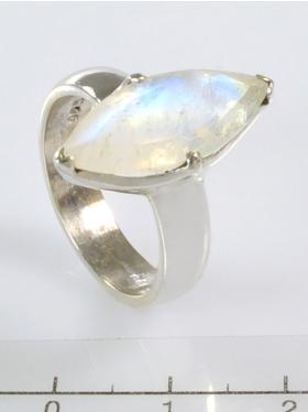 Regenbogenmondstein, Ring, Größe 58, Unikat