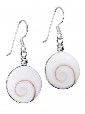 Ohrhänger Shiva Auge in 925er Silber, 1 Paar