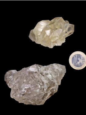 Skelettquarz (Elestial) aus Brasilien, Deko-Mineral, 2 Unikate