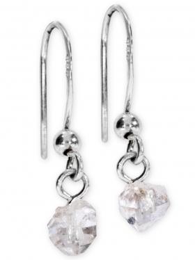 Bergkristall Doppelender aus der Provence, Ohrhänger, Unikat