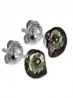 Ammonit aus der Provence, Ohrstecker in 925 Silber, Unikat