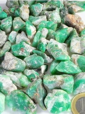 Chrysopras, Rohsteine, Größe S - M