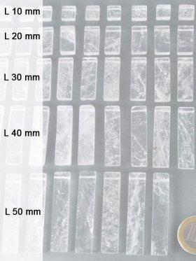 """Bergkristall Scheiben, """"Piece Concept"""" Einzelelemente, verschiedene Längen - L 10 mm - VE 12 St."""