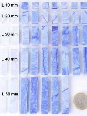 """Blauquarz Scheiben,""""Piece Concept"""" Einzelelemente, verschiedene Längen - L 10 mm - VE 12 St."""