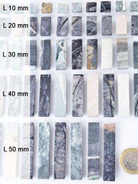 """Picasso Marmor Scheiben, """"Piece Concept"""" Einzelelemente, verschiedene Längen - L 10 mm - VE 12 St."""