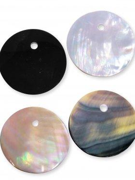 Perlmuttscheibe  ø 30 mm, rainbow