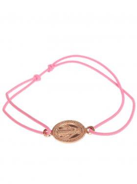 Symbolarmband Madonna an Elastikband in rosa, Silber, rosévergoldet