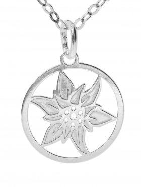 Edelweiß (ø 15) inkl. Ankerkette L 38 cm, 925 Silber