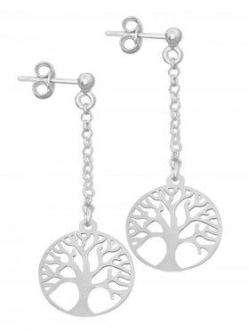 Baum des Lebens, Ohrstecker, 925 Silber rhodiniert