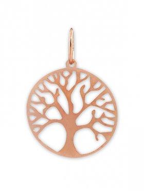 Baum des Lebens, Anhänger small mit Öse, 925 rosévergoldet