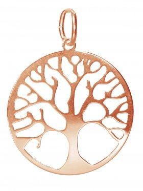 Baum des Lebens, large, Anhänger mit Öse, 925 rosévergoldet