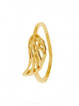 Engelsflügel, Ring Größe 60, 925 vergoldet