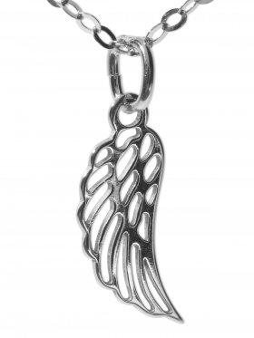 Flügel (small ø 15 mm) mit Ankerkette Länge 38 cm, 925 Silber