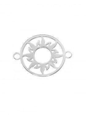 Sonne Element mini (10 mm) mit zwei Ösen, 925 Silber  (3 St.)
