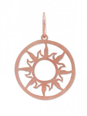 Sonne, large ø 25 mm, Anhänger mit Öse, 925 Silber