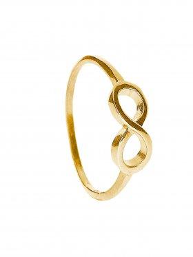 Unendlichkeit, Ring Größe 60, 925 vergoldet