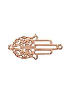 Fatimas Hand mini (10 mm) mit 2 Ösen, 925 rosévergoldet (3 St.)