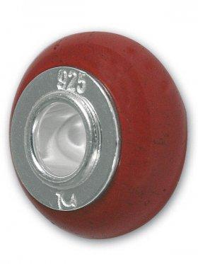 Jaspis rot, Anhänger Infinite bead