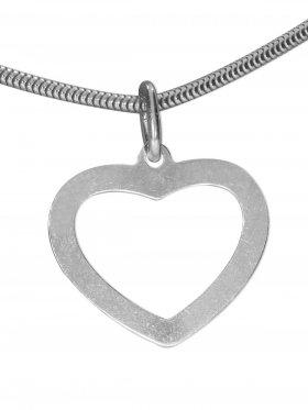 Herz, Anhänger small, 925 rhodiniert