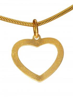 Herz, Anhänger small, 925 vergoldet