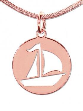 Segelboot small (15 mm), Anhänger mit Öse, 925 SIlber (rhodiniert, vergoldet, rosévergoldet)