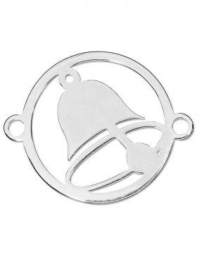 Glocke, Element small mit 2 Ösen, 925 Silber