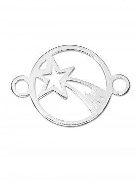 Bethlehem Stern, Element mini mit 2 Ösen, 925 Silber