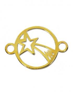 Bethlehem Stern, Element mini mit 2 Ösen, 925 vergoldet