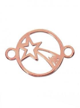 Bethlehem Stern, Element mini mit 2 Ösen, 925 rosévergoldet