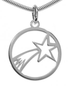 Bethlehem Stern Anhänger small (15 mm), 925 Silber rhodiniert