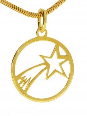 Bethlehem Stern Anhänger small (15 mm), 925 Silber vergoldet