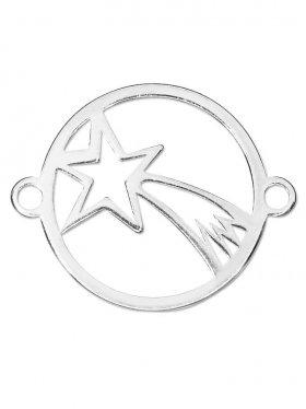 Bethlehem Stern small (15 mm) mit 2 Ösen, 925 Silber (3 St.)