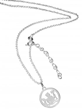 Wassermann (small ø 15 mm) -  Ankerkette mit Verlängerungskette, Länge 38+5 cm, 925 Silber