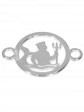 Wassermann, Element mini (10 mm) mit 2 Ösen, 925 Silber rhodiniert