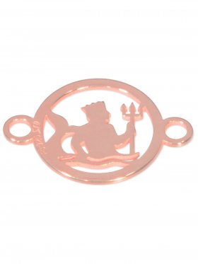 Wassermann, Element mini (10 mm) mit 2 Ösen, 925 Silber rosévergoldet