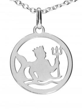 Wassermann, Sternzeichen Anhänger small mit Öse, 925 Silber